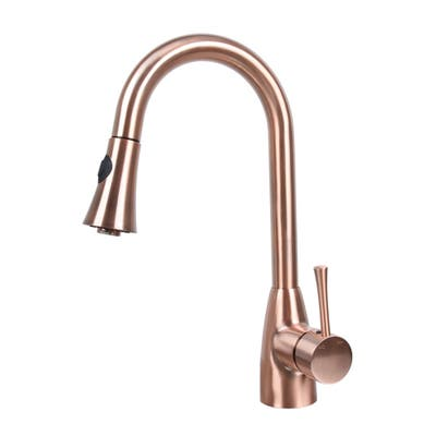 One-Handle Pull-Down Copper Kitchen Faucet
