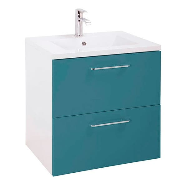 24 Happy Modern Bathroom Vanity Blue 24 X 24 X 18 Inch Vanity Ceramic Top And Mirror 2 Drawers Overstock 30244084