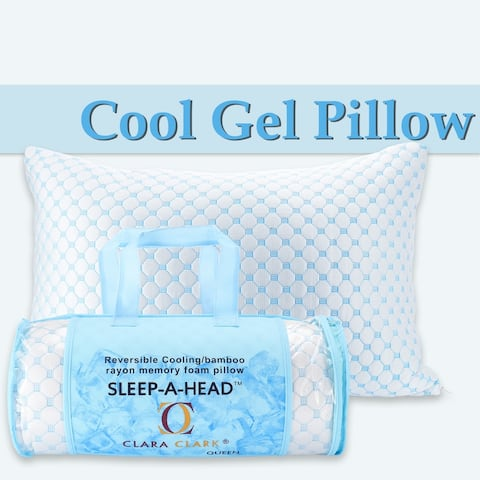 Memory Foam Pillow with Bamboo Cover, Premium Luxury Gel Memory Foam Pillows for Sleeping,Back Sleepers or Neck Pain,Queen
