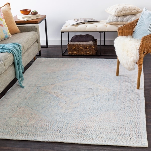 Lani Handmade Medallion Wool Area Rug On Sale Overstock 30244201 5 X 7 6 Sky Blue