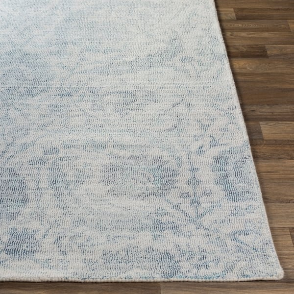 Transitional Fl Wool Area Rug