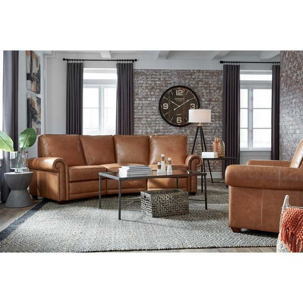 Orly Distressed Brown Top Grain Leather Power Reclining Sofa and Chair
