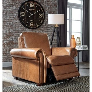 Orly Distressed Brown Top Grain Leather Power Reclining Chair