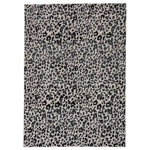 Silver Orchid Bellamy Power-loomed Gray/ Black Area Rug