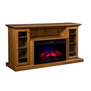 "Richland 70"" LED Fireplace with Shelf and Cabinets"