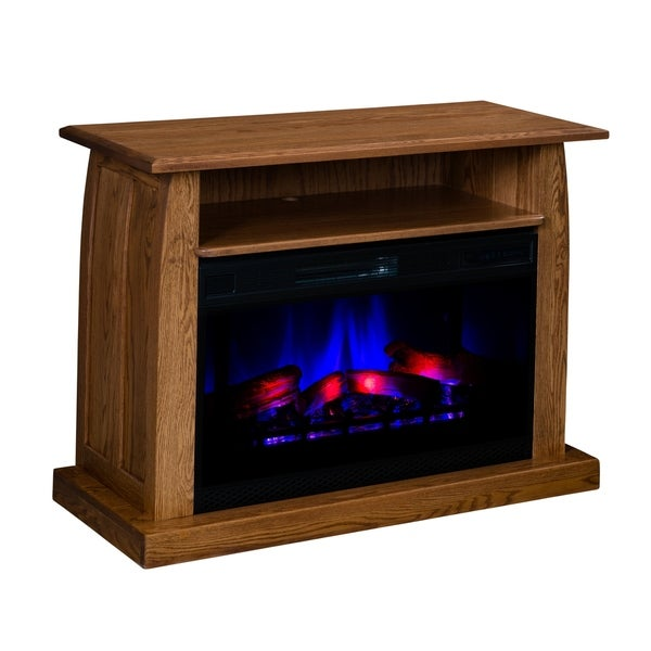"Dawson 44"" Curved LED Fireplace with Shelf"