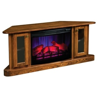 """Pearson 57"""" Corner LED Fireplace with Cabinets"""