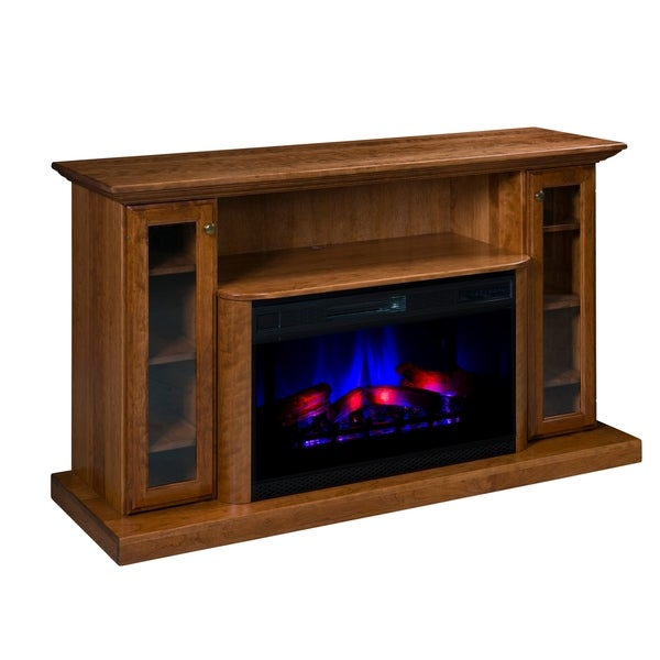 "Riverdale 64"" LED Fireplace with Shelf and Cabinets"