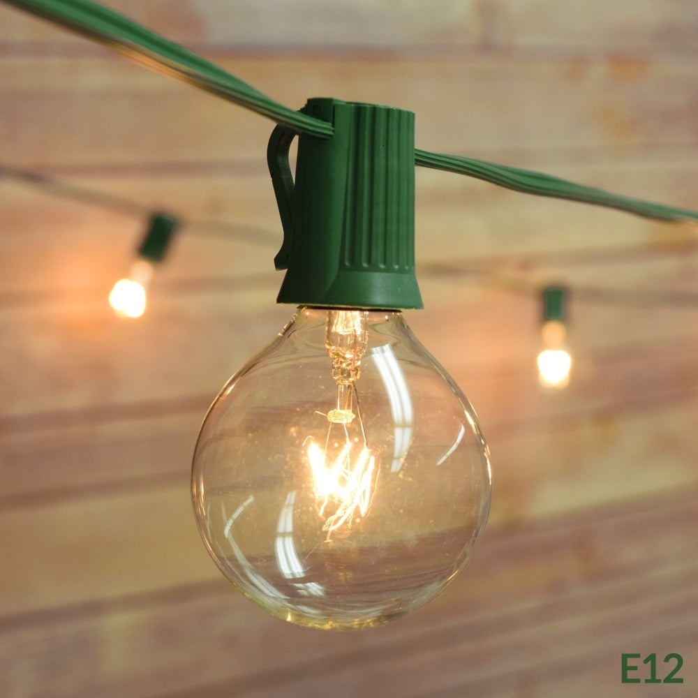 18 Bulbs 2 sets 48 ft 15 Sockets Outdoor 14 Gauge Edison Metro String Lights