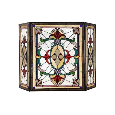 Tiffany 3-panel Fireplace Screen