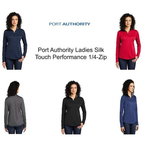 Port Authority Ladies Silk Touch Performance 1/4-Zip Pullover.