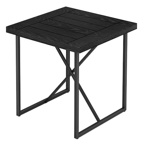 """24"""" End table with an ebony finish and tubular graphite powder coated steel base"""