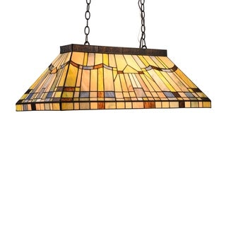 Link to Tiffany Style 3-light Linear Island Fixture Similar Items in Pool Table Lights