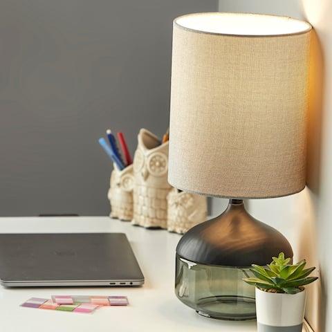 Porch & Den Foxglove Smoked Glass Table Lamp