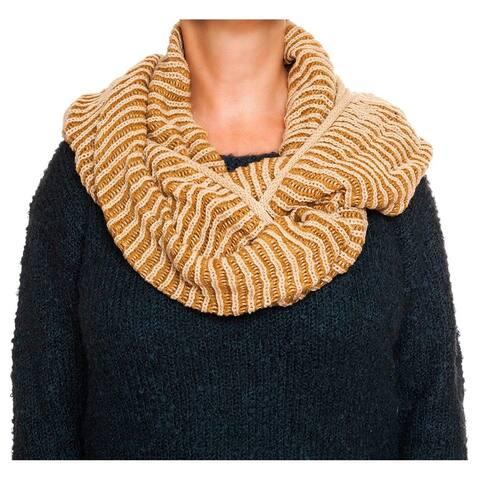 Rampage Contrast Rib Knit Infinity Pashmina Fashion Scarf