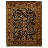 Safavieh Hand-knotted Black/ Red Forever Wool Rug (9' x 12')
