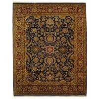 Safavieh Handmade Dynasty Traditional Black / Red Wool Rug - 9' x 12'