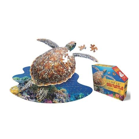 Madd Capp Puzzle Jr. - I AM Lil SEA TURTLE 100 Piece Puzzle