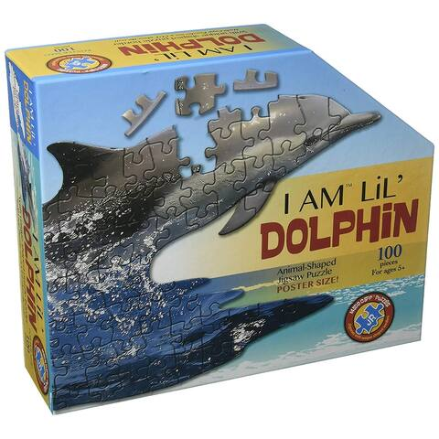 Madd Capp Puzzle Jr. - I AM Lil DOLPHIN 100 Piece Puzzle