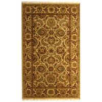 Safavieh Hand-knotted Ivory/ Ivory Eternity Wool Rug - 5' x 8'