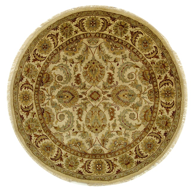Safavieh Hand-knotted Ivory/ Ivory Eternity Wool Rug (8' Round)
