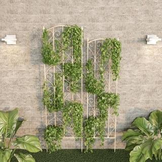 Havenside Home Laudery Decorative Scrolls Metal Garden Trellis (Set of 2)