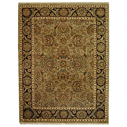 Safavieh Hand-knotted Camel/ Black Eternity Wool Rug (8' x 10')