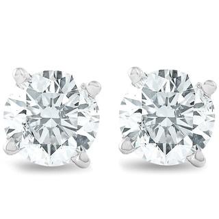 Link to 14k White Gold 3/4ct TDW Diamond Classic Stud Earrings Similar Items in Earrings