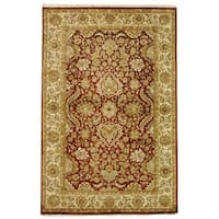 Safavieh Hand-knotted Rust/ Ivory Timeless Wool Rug (5' x 8')