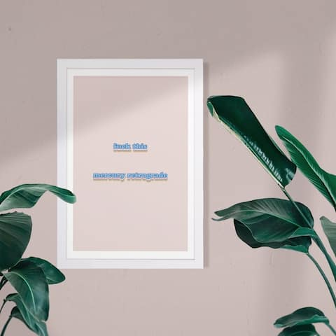 Wynwood Studio Typography and Quotes Framed Wall Art Prints 'Mercury Retrograde' Funny Quotes and Sayings - Blue, Brown