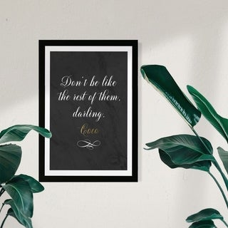 Link to Wynwood Studio Typography and Quotes Framed Wall Art Prints 'Dont Be Like The Rest' Fashion Quotes and Sayings  - Black, White Similar Items in Art Prints