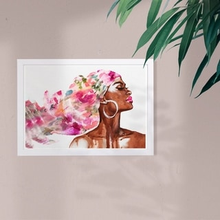 Link to Wynwood Studio Fashion and Glam Framed Wall Art Prints 'Mother Earth Floral' Portraits Home Décor - Pink, Brown - 19 x 13 Similar Items in Art Prints