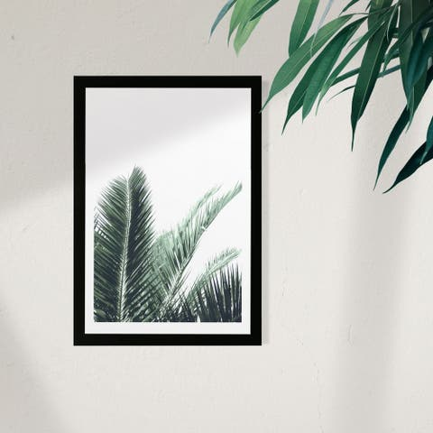 Wynwood Studio Floral and Botanical Framed Wall Art Prints 'Plant IV' Trees Home Décor - Green, White - 13 x 19