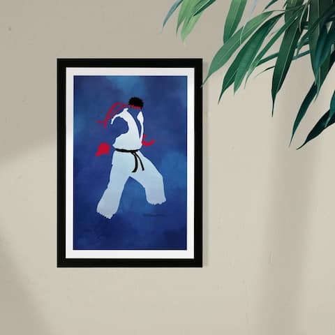 Wynwood Studio Framed Wall Art Prints 'Fight! Print'