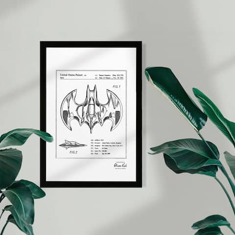 Wynwood Studio Movies and TV Framed Wall Art Prints 'Aerial bat Toy 1991, Silver Metallic' Science Fiction - Gray, White