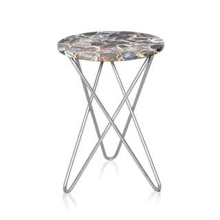Treasury Grey Agate Side Table