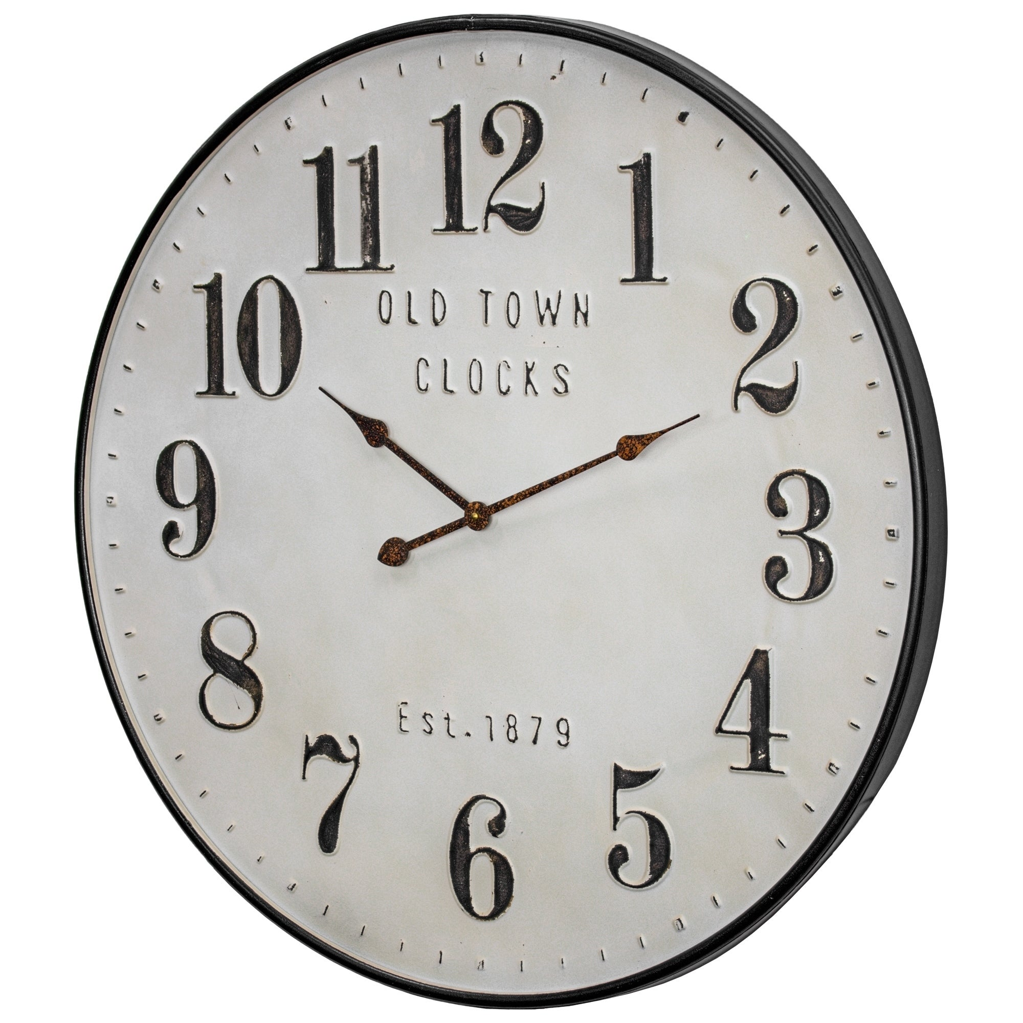 Old Town Clocks Vintage Oversized Metal Wall Clock 31 Overstock 30250865