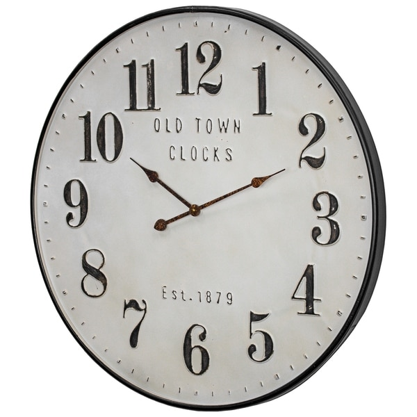Old Town Clocks Vintage Oversized Metal Wall Clock 31 On Sale Overstock 30250865