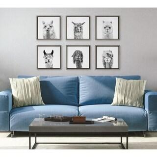 Link to Kate and Laurel Sylvie Alpaca Portrait Canvas Set by Simon Te Tai Similar Items in Canvas Art
