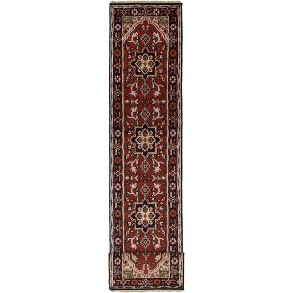 Hand-knotted Royal Heriz Copper Wool Rug. Opens flyout.