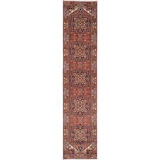 Hand-knotted Serapi Heritage Copper Wool Rug - 2'7 x 12'1