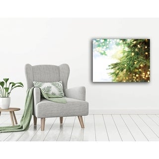 Fir Tree Holiday Canvas Art