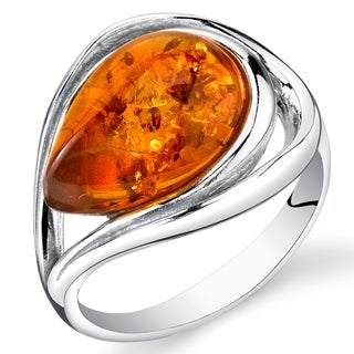 Link to Amber Teardrop Ring in Sterling Silver Similar Items in Necklaces