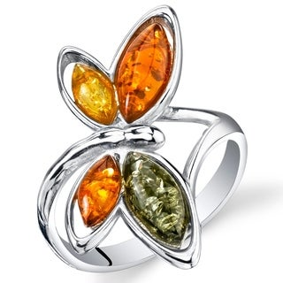 Link to Amber Butterfly Ring in Sterling Silver Similar Items in Rings