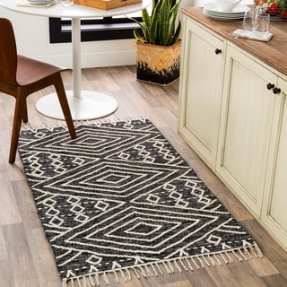 Harris Handmade Boho Nomad Cotton Area Rug