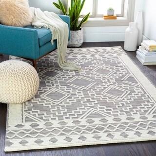 Amos Handmade Southwestern Diamond Wool Area Rug