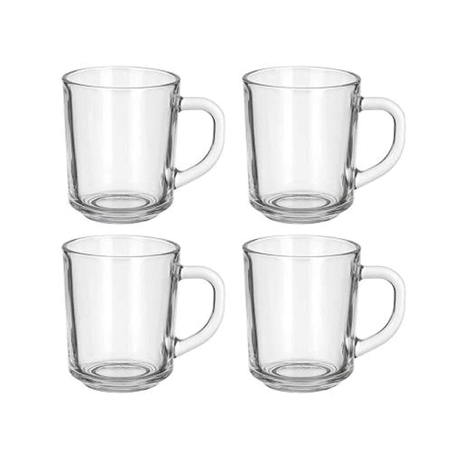 Cafe Glass Coffee Mugs Clear 8 Oz Great For Tea Coffee Juice Mulled Wine And More Overstock 30259630