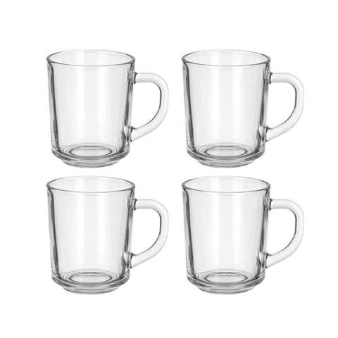 Café Glass Coffee Mugs - Clear, 8 oz Great For Tea, Coffee, Juice, Mulled Wine And More!