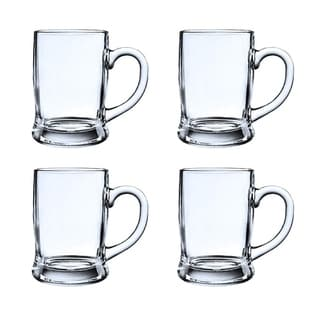 Link to Heavy Base Beer Mugs, Fun Party Entertainment Beverage Drinking Glassware 13 oz Crystal Style Glass Lead (Pb) Free Similar Items in Glasses & Barware
