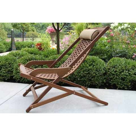 Eilara Eucalyptus Swing Lounger with Pillow by Havenside Home